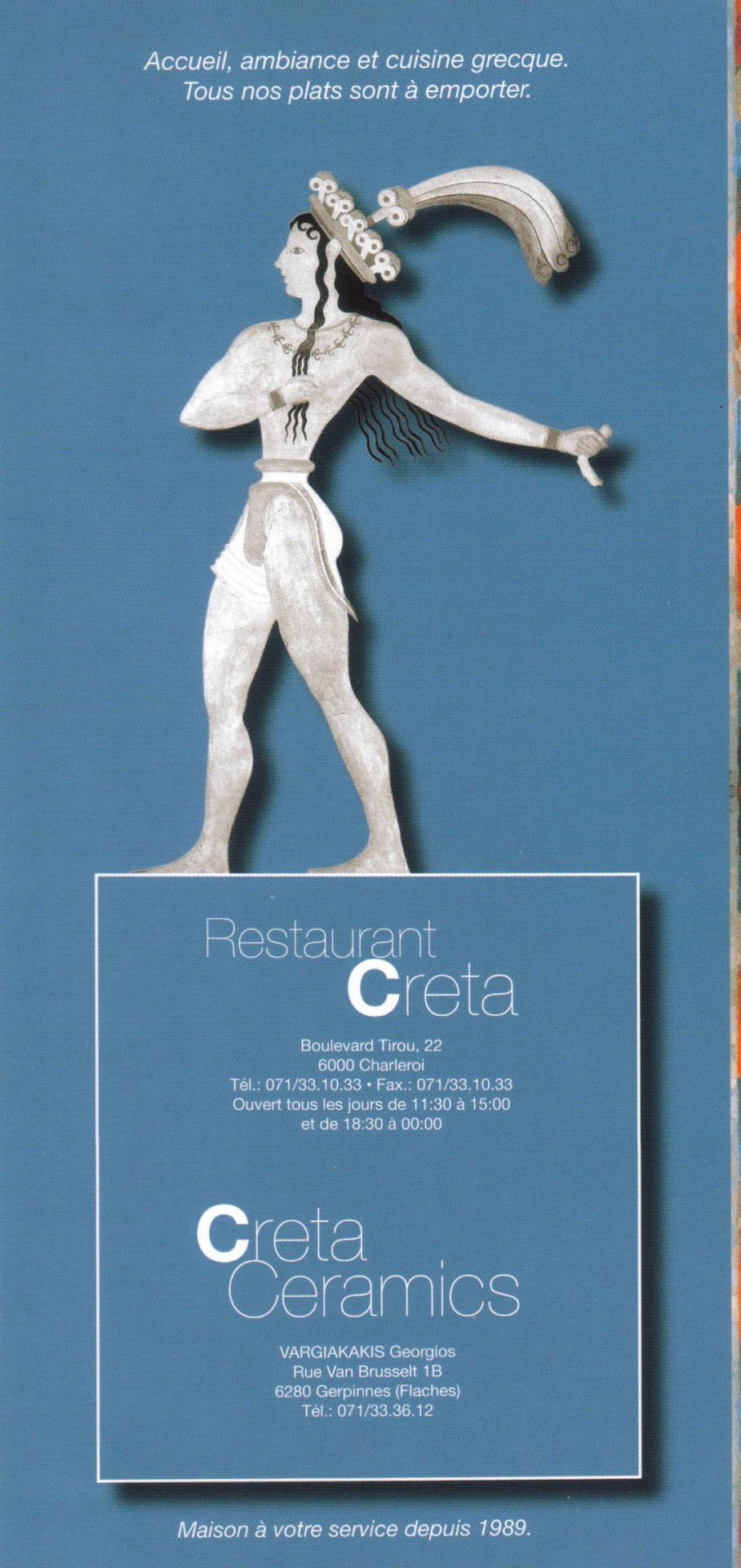 "Restaurant ""Le CRETA"" -  Boulevard Tirou  22 6000 Charleroi"